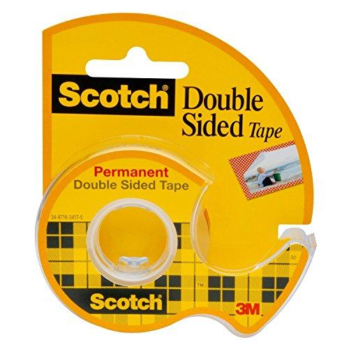 3M Scotch Brand Removable Double Sided Tape With Dispenser 3/4 X 400 Inches (237)