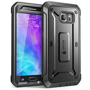 Supcase Galaxy S6 Case  Fullbody Rugged Holster Case With Builtin Screen Protector (Blackblack)