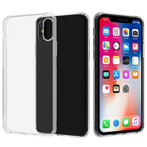 Migeec Compatible with iPhone X Case and iPhone Xs Case - Clear Soft TPU Bumper [Shock-Absorbing] Full Protection Phone Case for iPhone X/XS, Crystal Clear