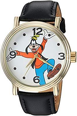 Disney Men'S Goofy' Quartz Metal Casual Watch, Color:Black (Model: Wds000339)