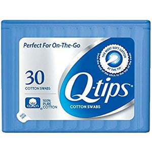 Q-tips Swabs Purse Pack 30 Each (Pack of 6)