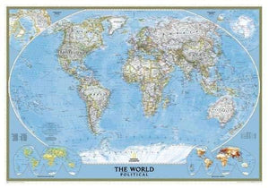 World Classic Laminated (National Geographic Reference Map)