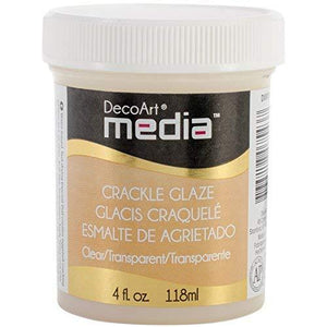 Decoart Media Crackle Glaze, 4-Ounce, Clear