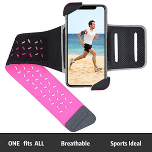 Running Armband for iPhone X, Xs, Xs Max, Xr, 8, 7, 6 Plus, Arm Phone Holder for Running, Sports, Gym Workouts and Exercise, Running Phone Holder Fits for Galaxy S9, S8, S7, S6, 100% Lycra