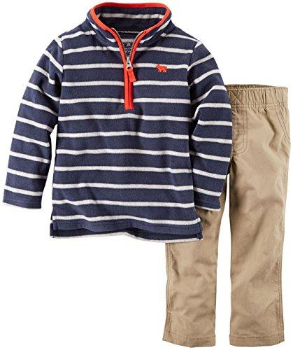 Carter's Baby Boys' 2 Piece Striped Set - Navy - 3 Months
