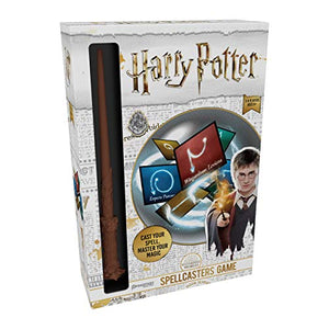 Harry Potter Spellcasters--A Charade Game with A Magical Spin - Cast Your Spell and Master Your Magic - Includes Spellcaster Wand (Replica of Harry Potter's Wand), 32 Spell and 32 Spellcaster Cards