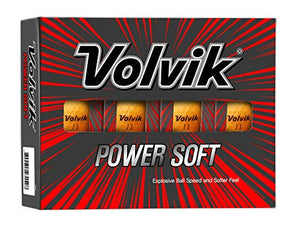 Volvik 9797 Power Soft Golf Balls Dozen - Gloss Orange