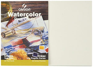 Canson Customizable Blank Watercolor Paper Postcards 140 Pound 5 X 7 Inch 15 Card Set
