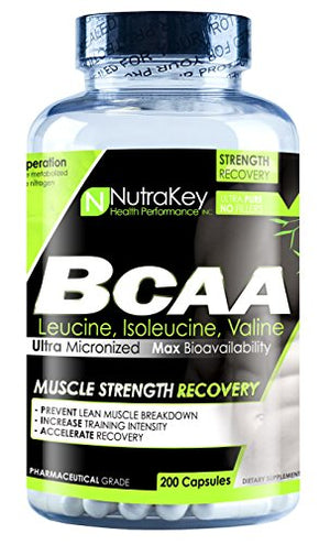 NutraKey BCAA 1500mg, 200 Count