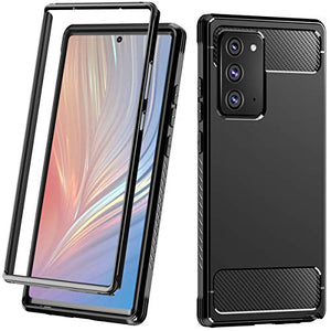 ZHK Galaxy Note 20 Case, Heavy Duty Shockproof Protection Full-Body Bumper Rugged Dual-Layer Protective Case for Samsung Galaxy Note 20 (5G) 6.7-inch Black, Without Built-in Screen Protector