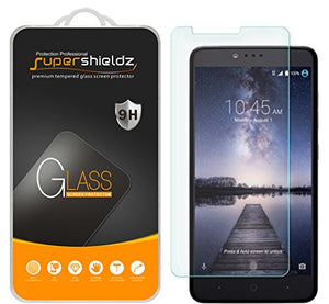 (2 Pack) Supershieldz for ZTE Zmax Pro Tempered Glass Screen Protector, Anti Scratch, Bubble Free