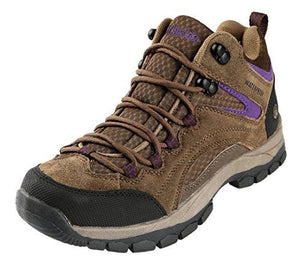 Northside Women'S Pioneer Waterproof Hiking Boot Stone/Purple 6 M Us