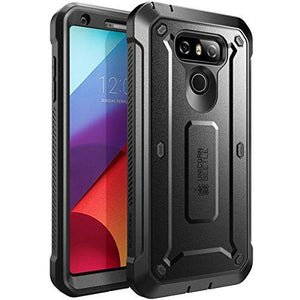 Supcase Full-Body Rugged Case With Built-In Screen Protector For Lg G6 Case/Lg G6 Plus (Black)