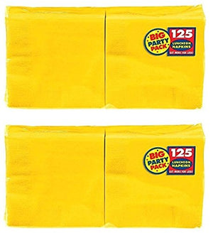 Amscan Big Party Pack Luncheon Napkins 13X13, 250/Pkg, Sunshine Yellow