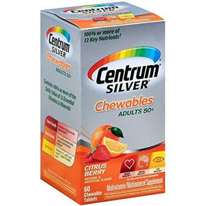 Centrum Silver Tablets Chewables Citrus Berry 60 Tablets