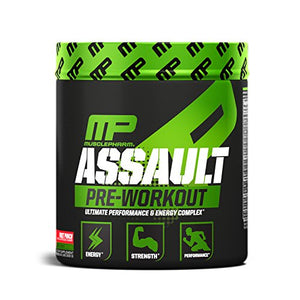 Musclepharm Assault Pre-Workout Powder, Pre-Workout Creatine - 30 Servings