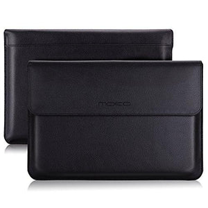 Moko 13.5 Inch Laptop Sleeve Pu Leather Protective Pc Notebook Case - Black