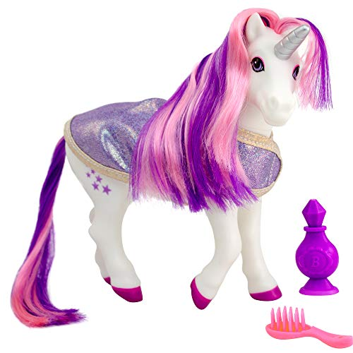 "Breyer Horses Color Changing Bath Toy | Luna The Unicorn | Purple / Pink / White with Surprise Blue Color | 8.5"" x 7"" 