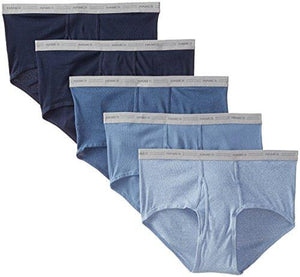 Hanes Men's 5-Pack Big Mid-Rise Waistband Briefs, Dyed, XXX-Large