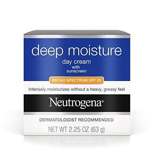 Neutrogena Deep Moisture Day Cream Spf 20, 2.25 Ounce (Pack Of 3)