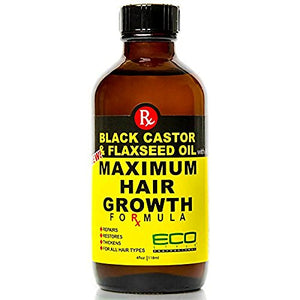 Ecoco Eco Style Black Castor Oil & Flaxseed Oil Maximum Hair Growth Formula, 4 Ounce