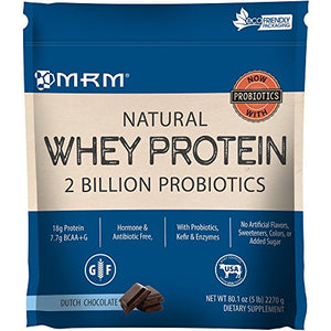 MRM All Natural Whey Protein Powder - 5 lbs - Dutch Chocolate