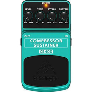 Behringer Cs400 Compressor Sustainer Ultimate Dynamics Effects Pedal