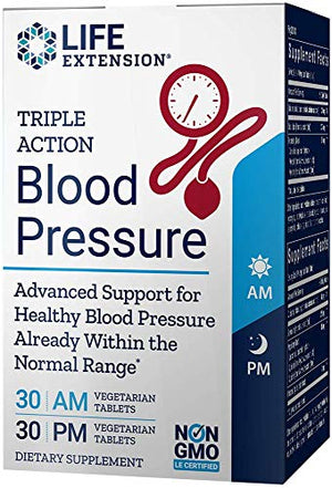 Life Extension Triple Action Blood Pressure (30 AM Tablets and 30 PM Tablets), 60 Tablets