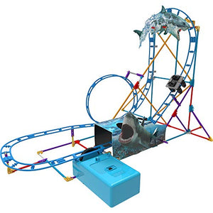K'NEX Thrill Rides - Tabletop Thrills Shark Attack Roller Coaster Building Set - Ages 7+