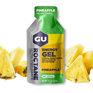 Gu Energy Labs Roctane Ultra Endurance Energy Gel, Pineapple, 24-Count