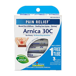 Boiron Arnica Montana 30C 3 Tubes (80 Pellets per Tube) Homeopathic Medicine for Pain Relief