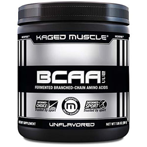 Kaged Muscle, Fermented BCAA Powder, Plant Based, Non-GMO, Protein Synthesis, Vegan Friendly Branched Chain Amino Acids, Aminos, BCAAs, Unflavored, 36 Servings, 7.05 Ounce