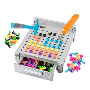 Educational Insights Gray Design & Drill Gray My First Workbench: Over 160 Pieces‰ÛÓPreschool Drill Toy