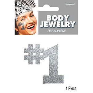 Amscan #1 Body Jewelry, Party Accessory, Silver