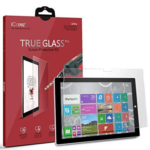 Icarez Microsoft Surface Pro 4 [Tempered Glass] Highest Quality Premium Easy Install