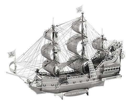 Fascinations Iconx Queen Anne'S Revenge Ship 3D Metal Model Kit
