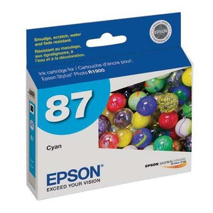 Epson Ultrachrome Hi-Gloss 87 Inkjet Cartridge Cyan T087220