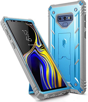Galaxy Note 9 Rugged Case, Poetic Revolution [360 Degree Protection] [Kick-Stand] Full-Body Rugged Heavy Duty Case with [Built-in-Screen Protector] for Samsung Galaxy Note 9 - Blue