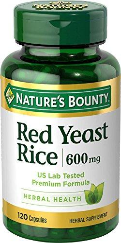 Nature'S Bounty Red Yeast Rice Pills And Herbal Health Supplement 600Mg 120 Capsules