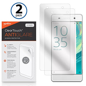 Sony Xperia XA Screen Protector, BoxWave [ClearTouch Anti-Glare (2-Pack)] Anti-Fingerprint Matte Film Skin for Sony Xperia XA