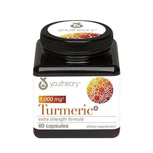 Youtheory Turmeric Extra Strength With Black Pepper (Bioperine), 60 Count (1 Bottle)