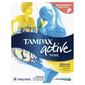 Tampaxtampons With Plastic Applicator Regular Absorbency Unscented 18 Count