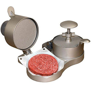 "Weston Burger Express Double Hamburger Press with Patty Ejector (07-0701), Makes 4 1/2"" Patties, 1/4lb to 3/4lb"