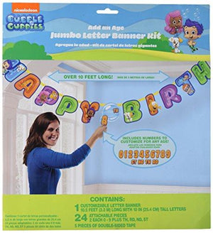 Amscan Bubble Guppies Jumbo Letter Banner Kit (1Ct)