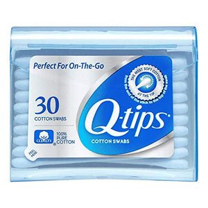 Q-tips Swabs Purse Pack 30 Each (Pack of 2)