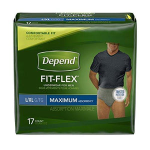 Depend For Men Underwear Gray L/Xl, Gray - 17 Ct