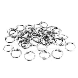 Uxcell Binder Loose Leaf Ring Keychain, 20Mm Outer Diameter, 50 Pieces