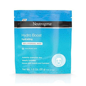 Neutrogena Hydro Boost Moisturizing & Hydrating 100% Hydrogel Face Mask Sheet 1 Oz Pack Of 12