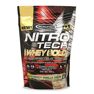 Muscletech Nitrotech Whey Gold, 100% Whey Protein Powder, Whey Isolate And Whey Peptides, Vanilla, 1 Pound