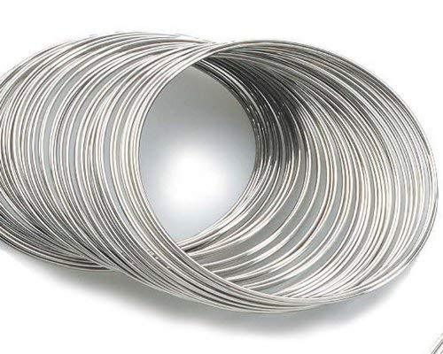 Beading Station 80-Circle Silvertone Bracelet Rigid Steel Memory Beading Wire For Jewelry Making